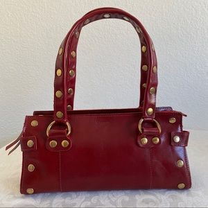 Hammitt red studded leather bag